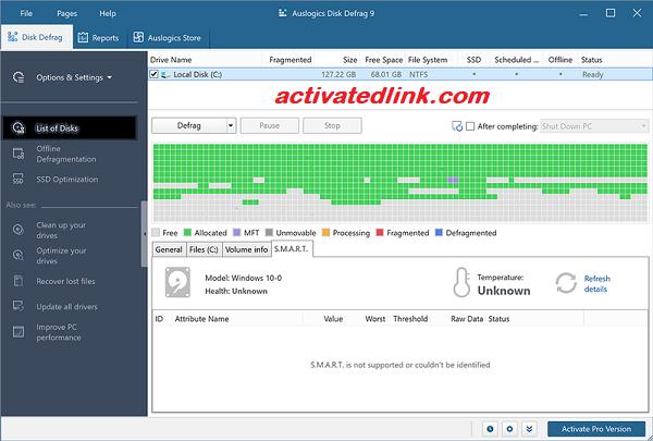 Auslogics Disk Defrag 9.3.0 Crack Plus License Key 2020 Free