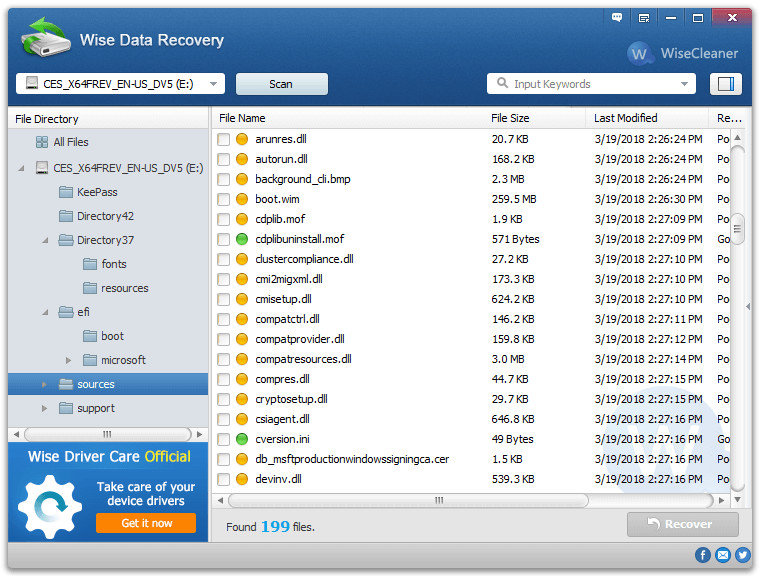 Wise Data Recovery 5.1.3 Crack Plus Serial Key Free Download