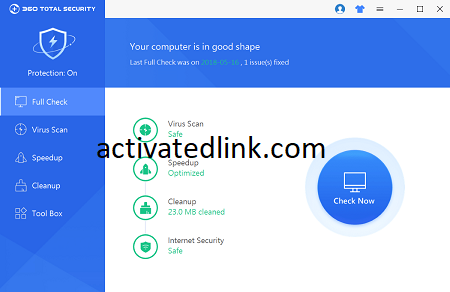 360 Total Security 10.8.0.1359 Crack With License Key Free