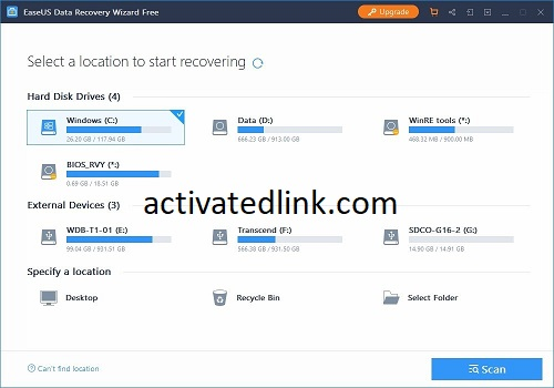 EASEUS Data Recovery Wizard 14.4.0 Crack With License Key 2022