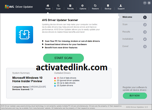 AVG Driver Updater 2021 Crack With Serial Key Download